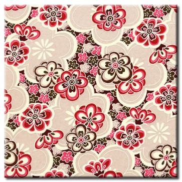 Chiyogami Paper - Selection 727 - Four 4 Inch x 6 Inch Sheets