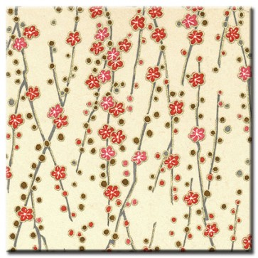 Chiyogami Paper - Selection 192 -  FOUR 4 Inch x 6 Inch Sheets