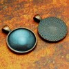 25mm 1 Inch Circle Antique Copper Pendant Tray
