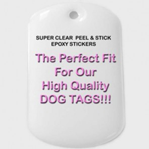 Dog Tag Epoxy Stickers