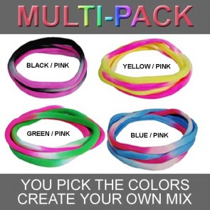Pick & Mix Large Tie Dye Nylon Choker Necklaces