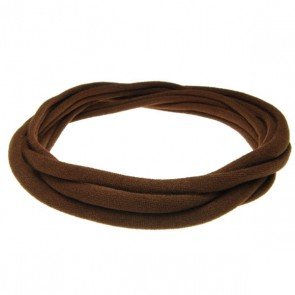 Brown Medium Nylon Choker Necklace