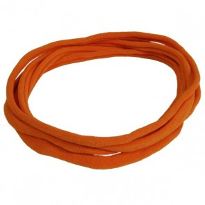 Burnt Orange Nylon Choker Necklace