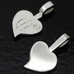 Aanraku Large Silver Plated Heart Bails