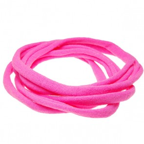 Hot Pink Medium Nylon Choker Necklace