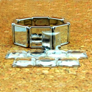 DIY 20mm 3/4 Inch Square Glass Dome Bracelet Kit