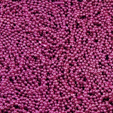 Fuchsia Colored Ball Chains 2.4mm 24 Inch