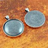 30mm Circle Antique Silver Pendant Tray
