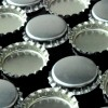 Chrome Silver Bottle Caps No Rubber Liners