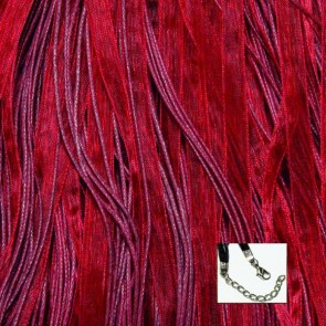 Burgundy Organza Ribbon Necklaces