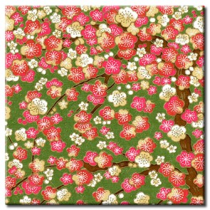 Chiyogami Paper - Selection 718 - Four 4 Inch x 6 Inch Sheets