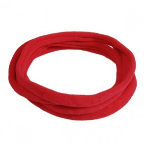 Red Large Nylon Choker Necklace